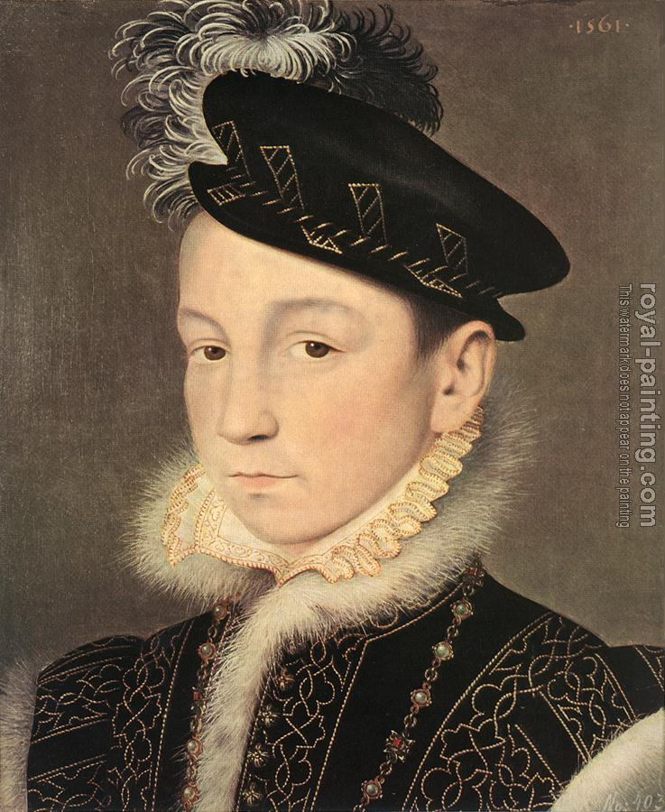 Jean Clouet : Portrait of King Charles IX of France
