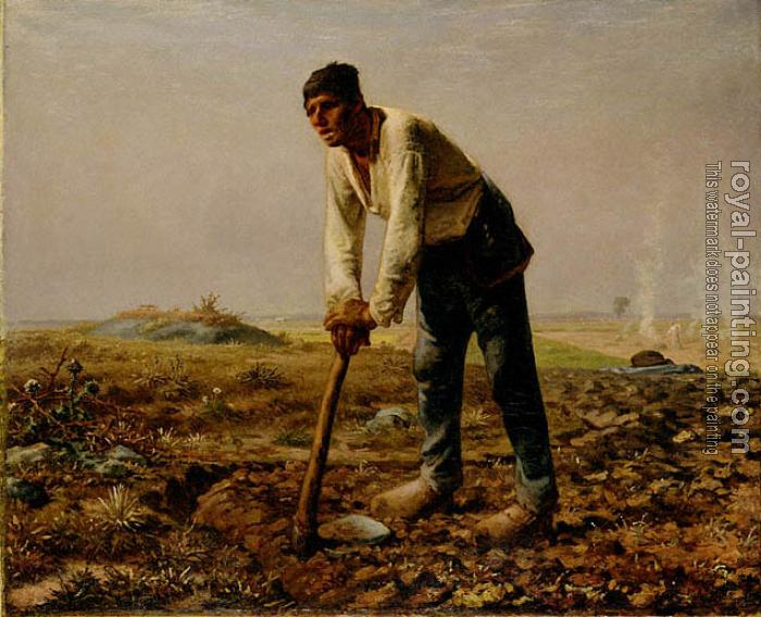 Jean-Francois Millet : Man with a Hoe