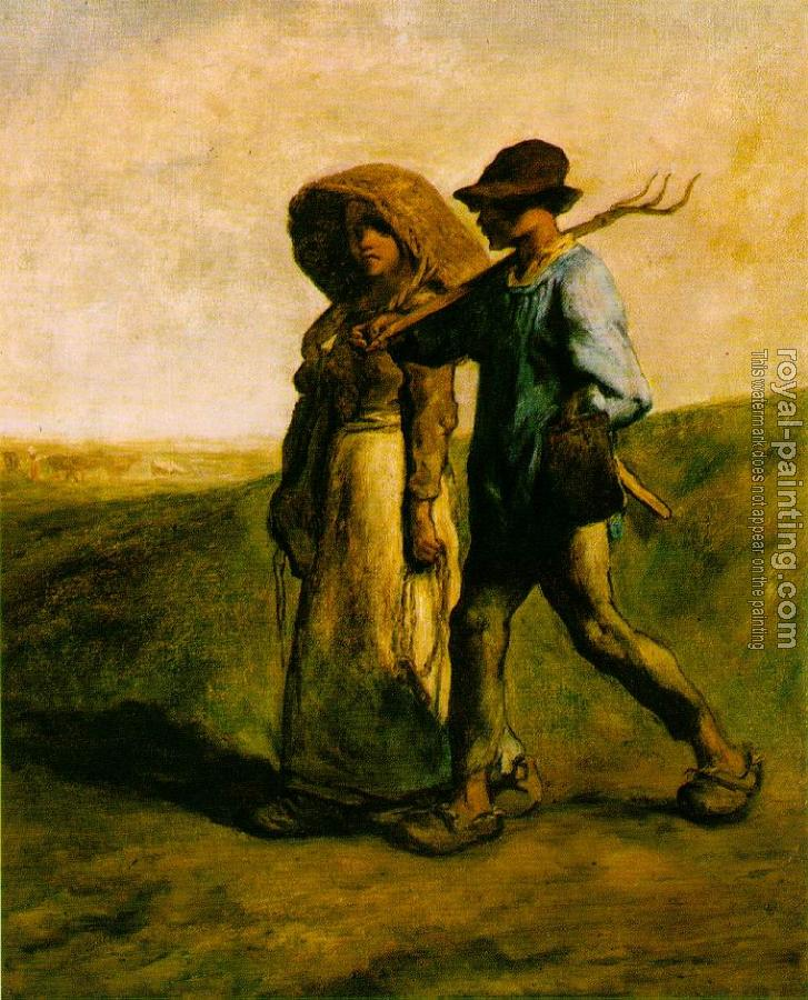 Jean-Francois Millet : The Walk to Work Le Depart pour le Travail