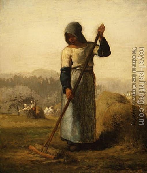 Jean-Francois Millet : Woman with a Rake
