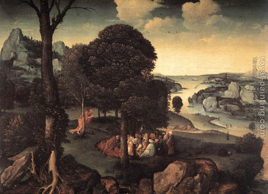 Joachim Patinir : Landscape With St John The baptist Preaching