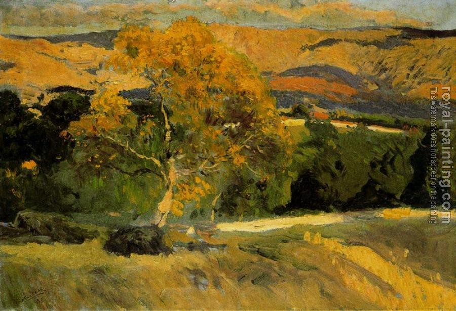 Joaquin Sorolla Y Bastida : Yellow tree, The Farm