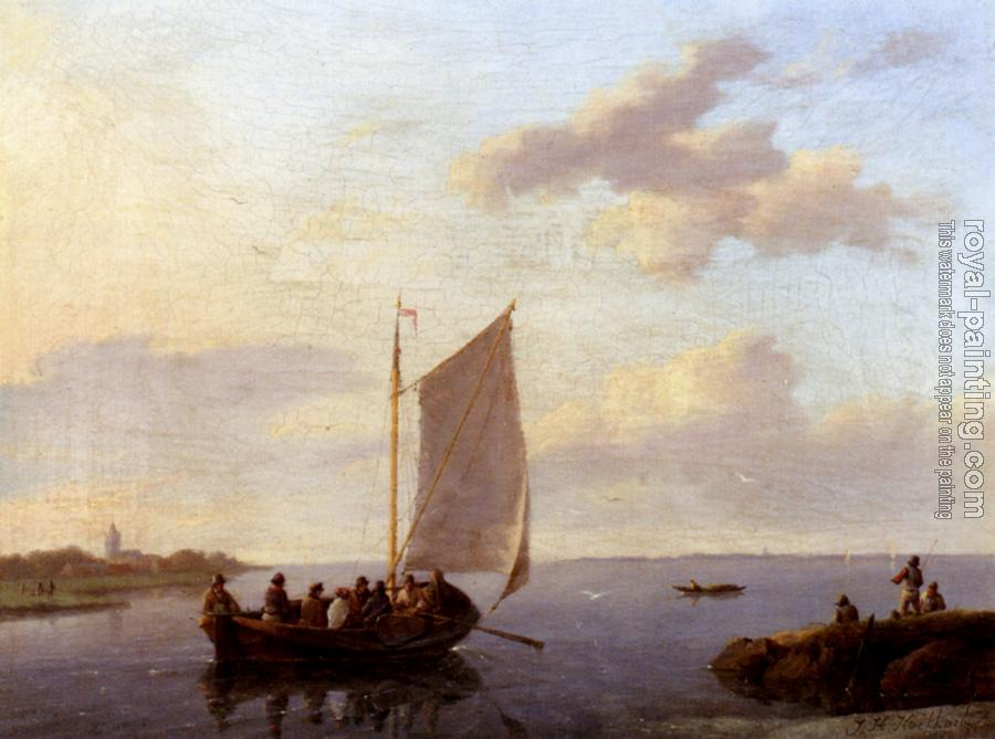 Johannes Hermanus Koekkoek : Off The Shore