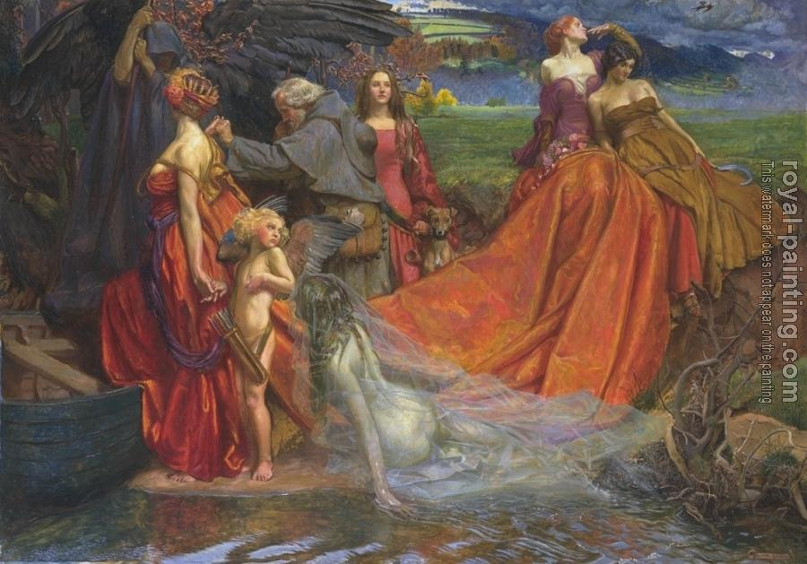 John Byam Liston Shaw : Liston Now is Pilgrim Fair Autumn's Charge