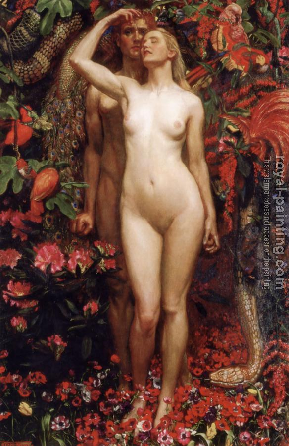 John Byam Liston Shaw : The Woman The Man the Serpent