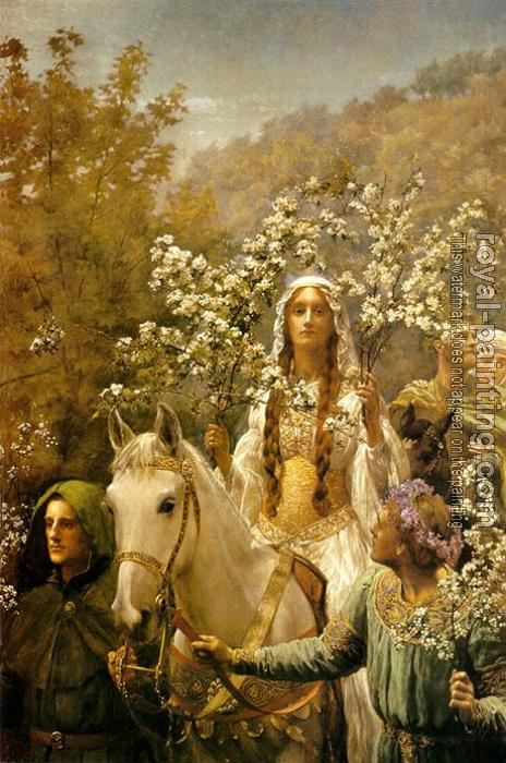 John Collier : Queen Guinevre's Maying