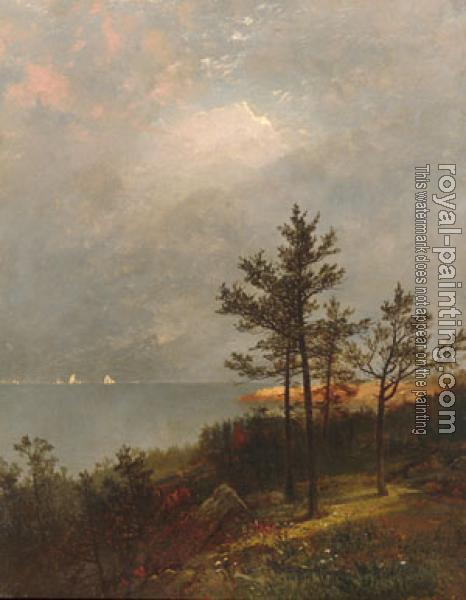 John Frederick Kensett : Gathering Storm On Long Island Sound