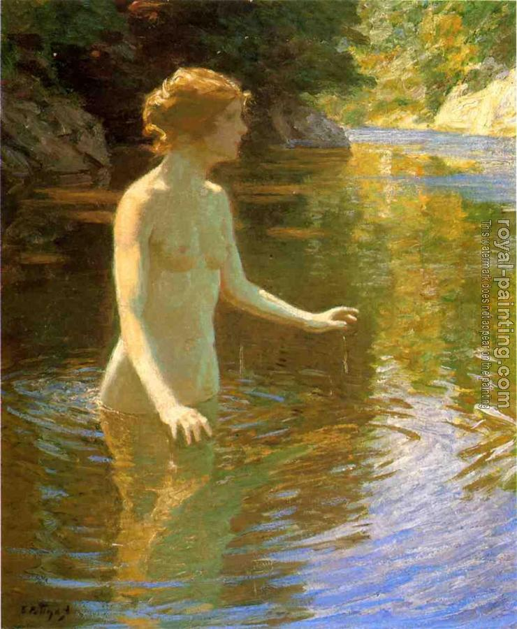 John Henry Twachtman : Enchanted Pool