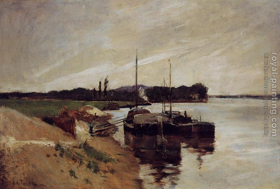 John Henry Twachtman : Mouth of the Seine