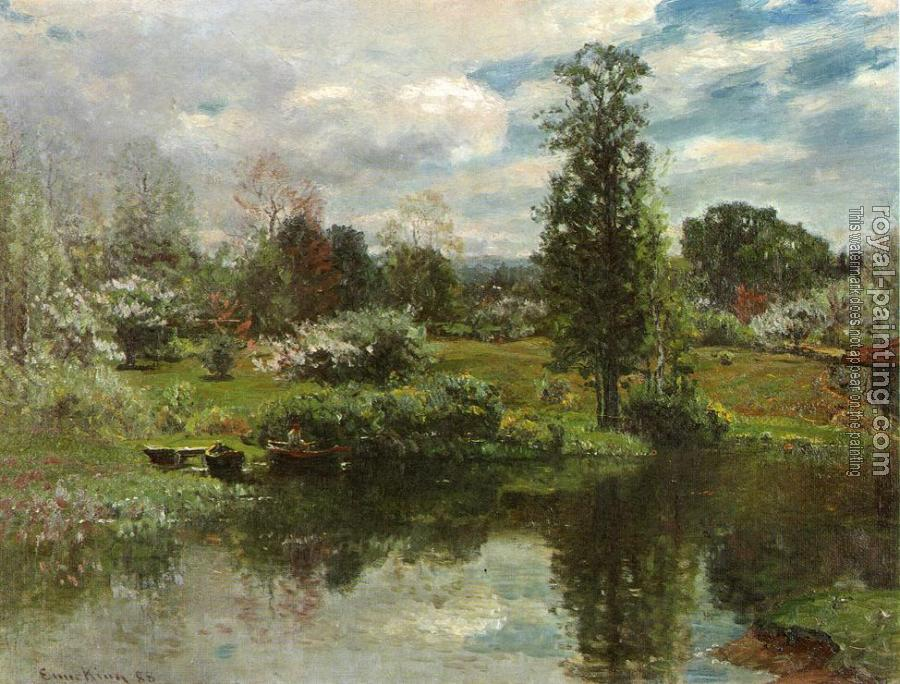John Joseph Enneking : Summer on the Lake