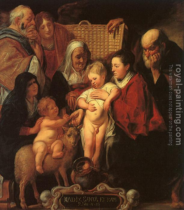 Jacob Jordaens : The Holy Family with St.Anne, the Young Baptist and his Parents