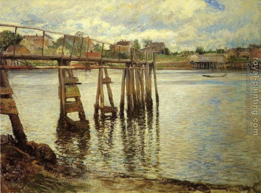 Joseph R DeCamp : Jetty at Low Tide aka The Water Pier