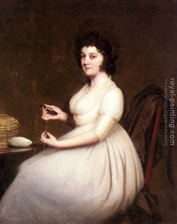 Joseph Wright Of Derby : Portrait Of Mrs Abney