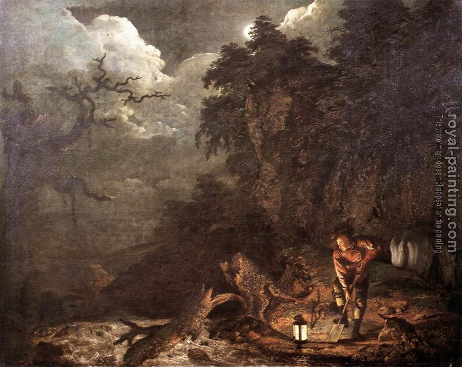 Joseph Wright Of Derby : Earthstopper at the Bank of Derwent