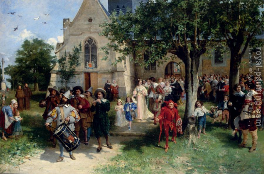 Jozef Israels : Jacomin Alfred Louis Vigny The Baptism