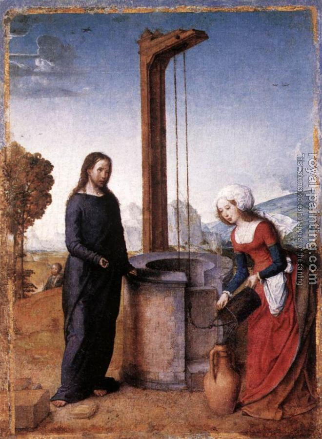 Juan De Flandes : Christ and the Woman of Samaria