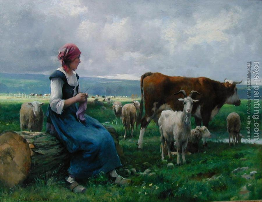 Julien Dupre : Dhepardes with goat sheep and cow