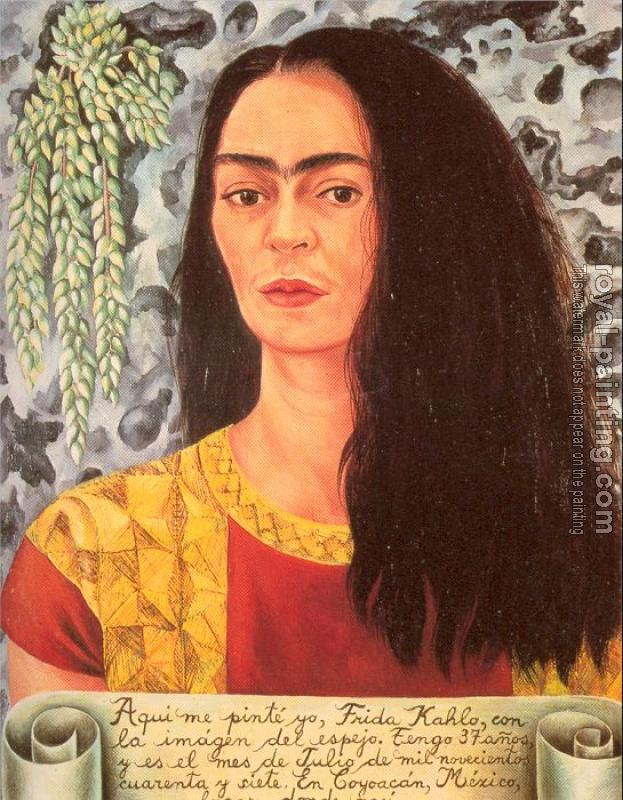 Frida Kahlo : Self Portrait with Loose Hair