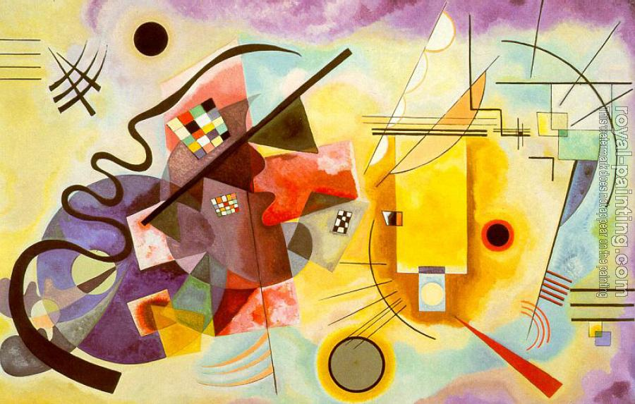 Red Blue Yellow By Wassily Kandinsky Oil Painting
