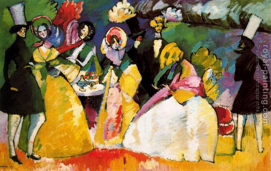 Wassily Kandinsky : Group in Crinolines