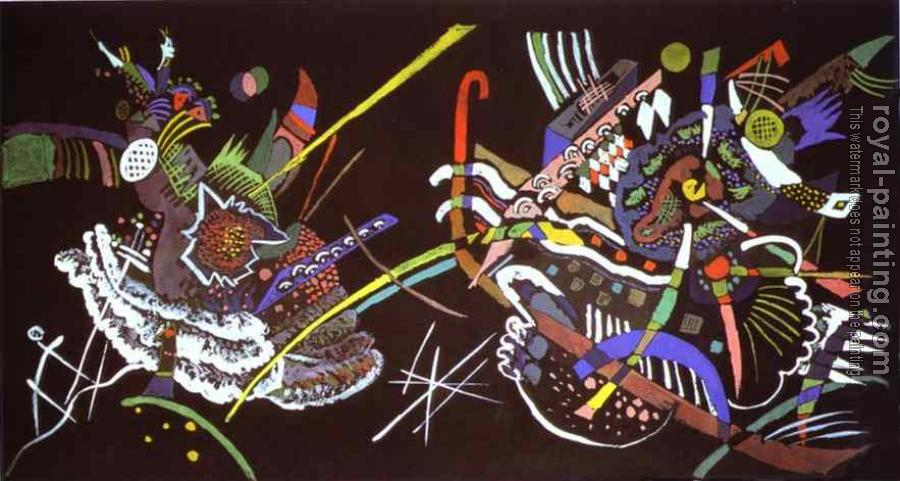 Wassily Kandinsky : Draft for Mural In The Unjuried Art Show, Wall B