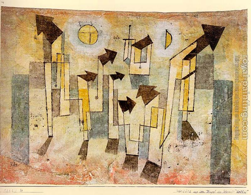 Paul Klee : Wall Painting from the Temple of Longing