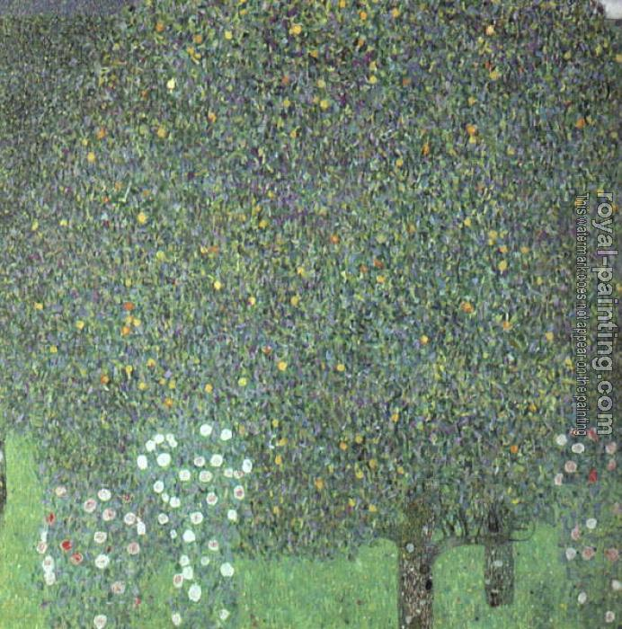 Gustav Klimt : Roses under the Trees