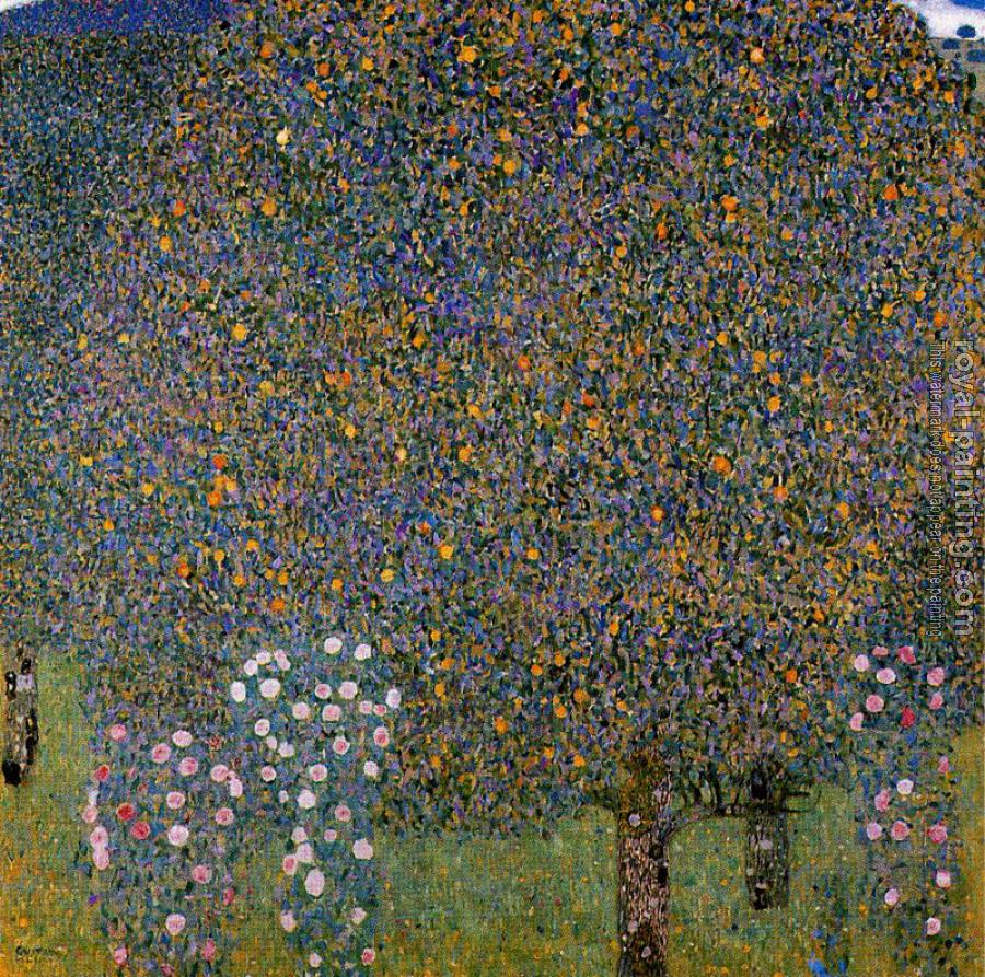 Gustav Klimt : Roses under the Trees II