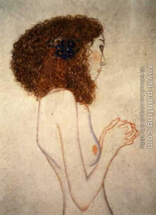 Gustav Klimt : Imploring Girl