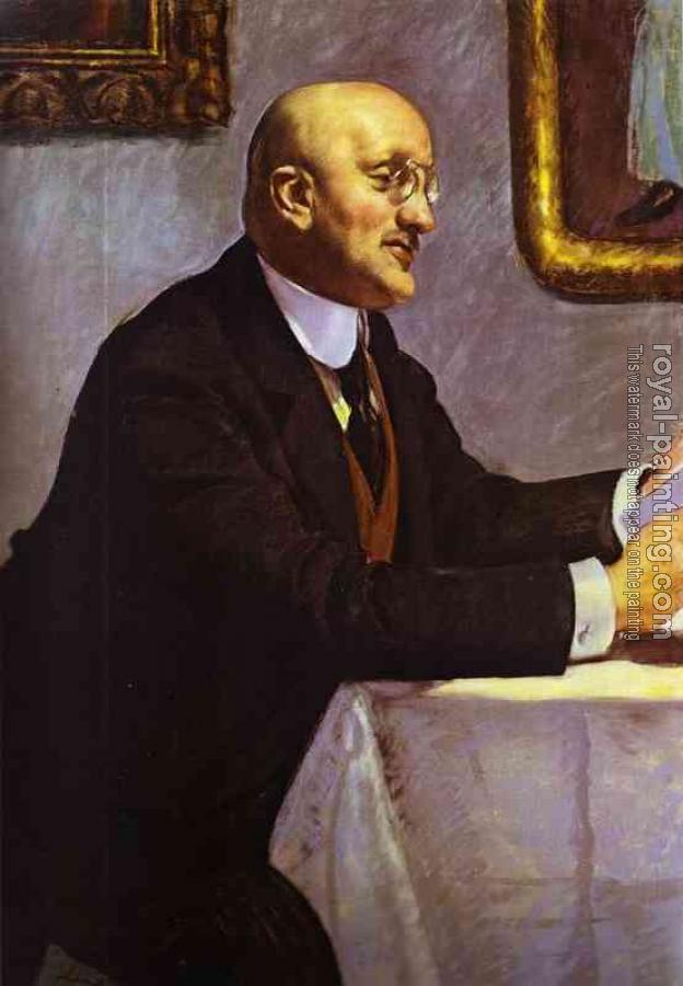 Boris Kustodiev : Portrait of the Artist Igor Grabar (1871-1960)