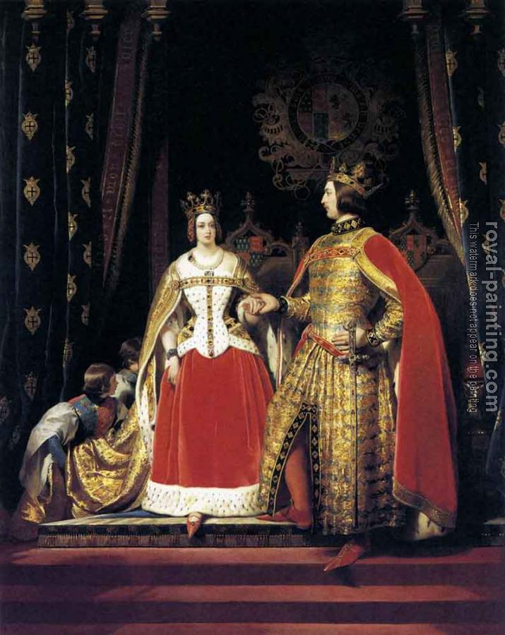 Sir Edwin Henry Landseer : Queen Victoria and Prince Albert at the Bal Costume