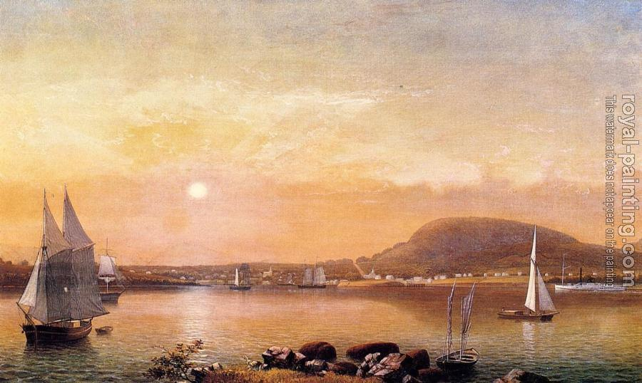 Fitz Hugh Lane : Camden Mountains and Harbor from the North Point of Negro Is