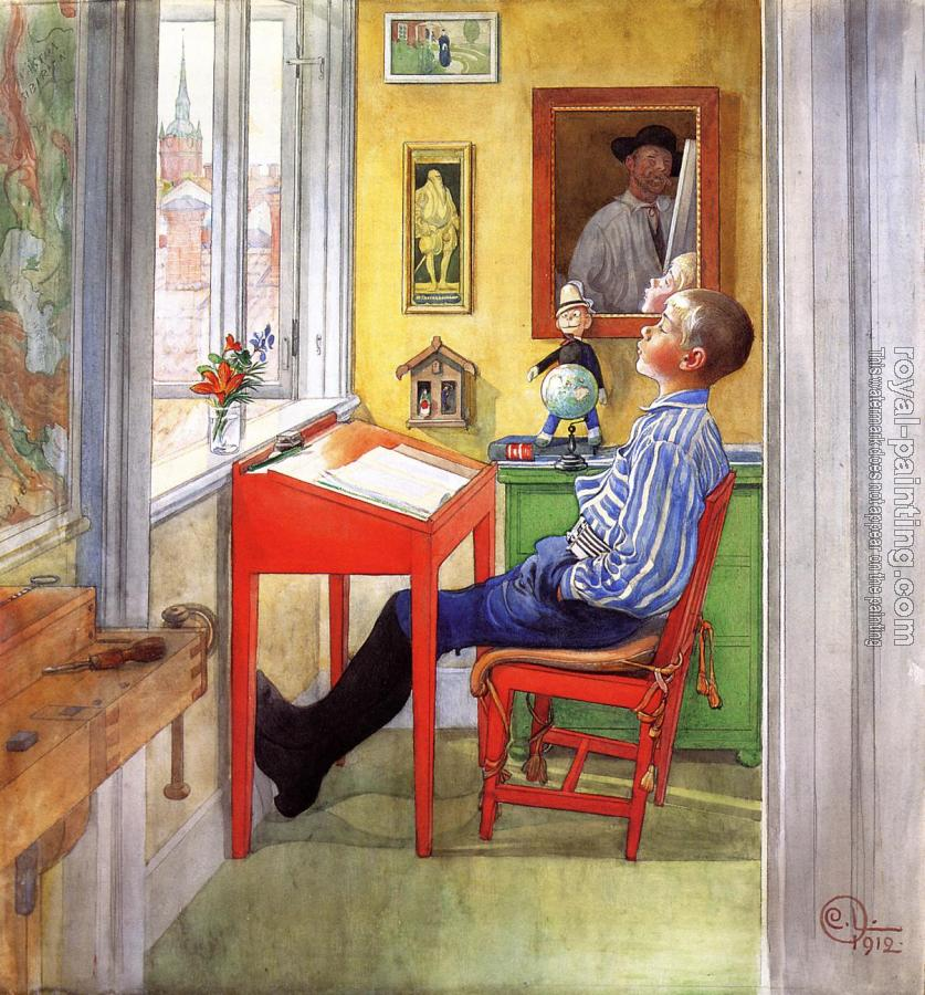 Carl Larsson : Esbjorn Doing His Homework