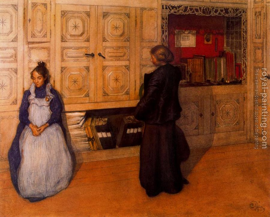 Carl Larsson : Mother and daughter