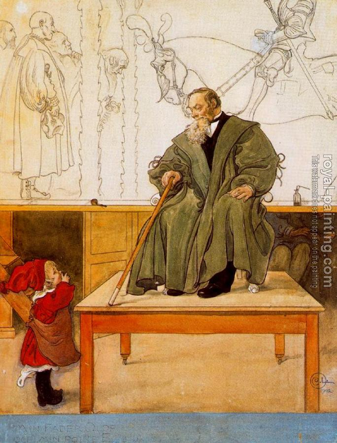 Carl Larsson : Grandfather with Esbjorn