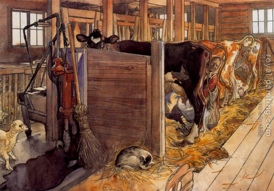 Carl Larsson : The Cowshed Carl Larsson