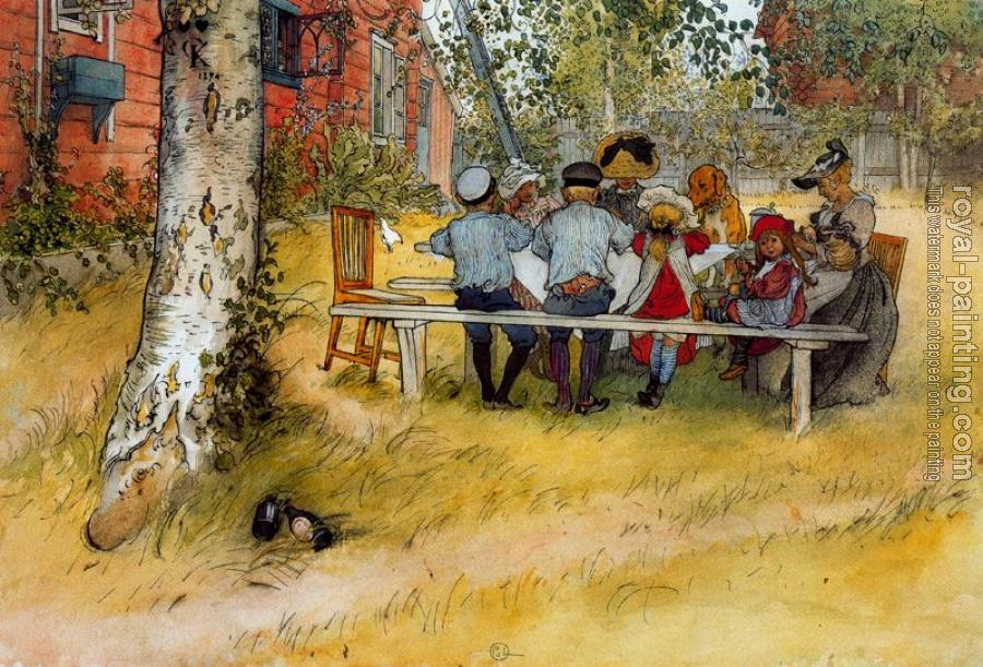 Carl Larsson : Breakfast under the Big Birch