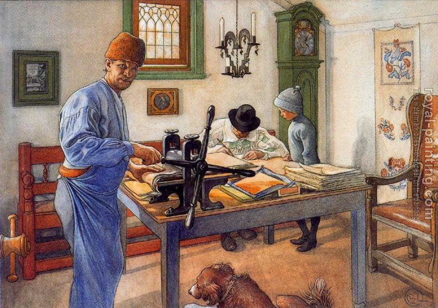 Carl Larsson : Where I Do My Etching