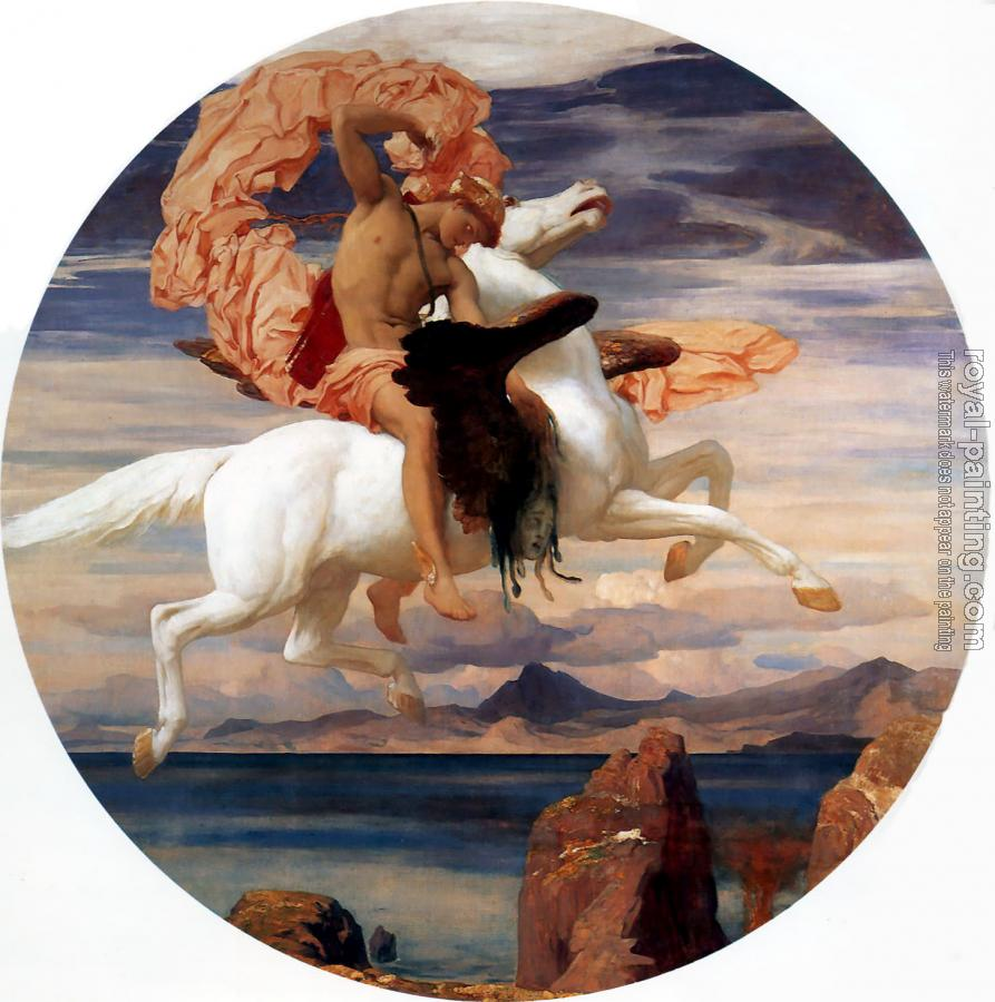 Lord Frederick Leighton : Perseus on Pegasus Hastening to the Rescue of Andromeda