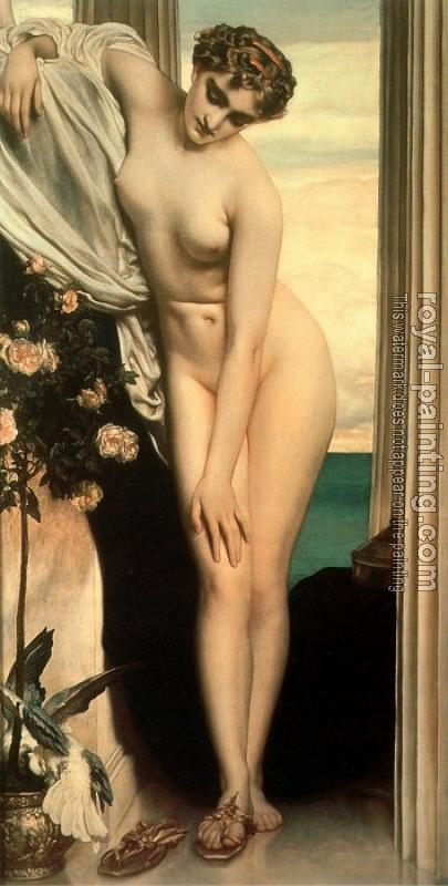 Lord Frederick Leighton : Venus Disrobing for the Bath
