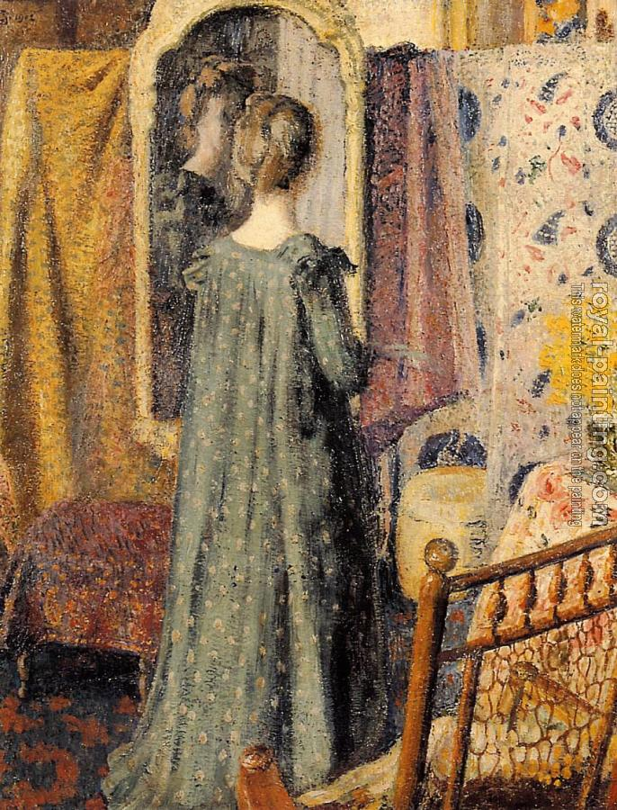 Georges Lemmen : Woman Standing in Front of the Mirror