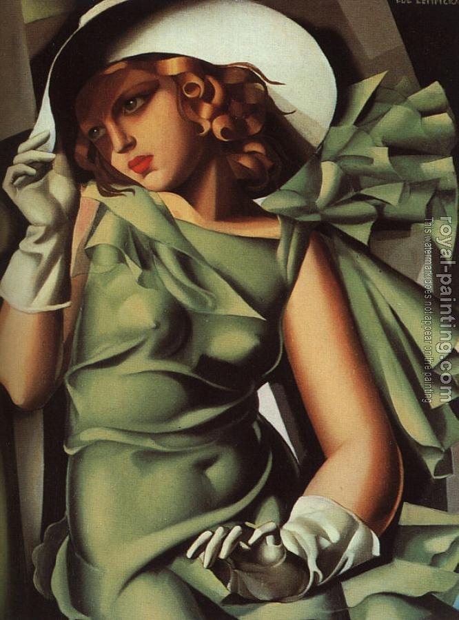 Tamara De Lempicka : Young Lady with Gloves