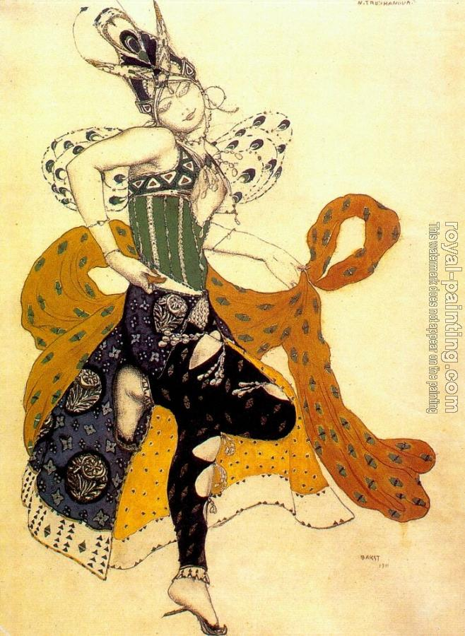 Leon Bakst : La peri natasha trouhanova as the peri