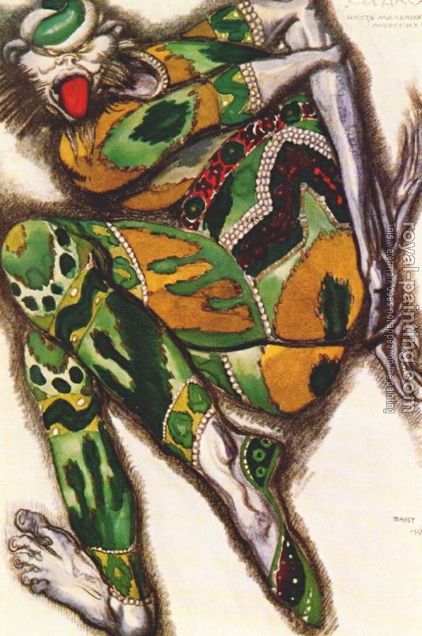 Leon Bakst : Sadko the green monster
