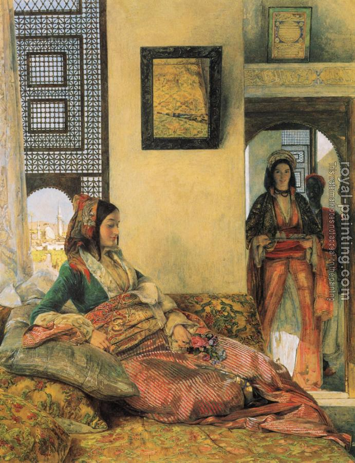 John Frederick Lewis : Life in the Hareem, Cairo