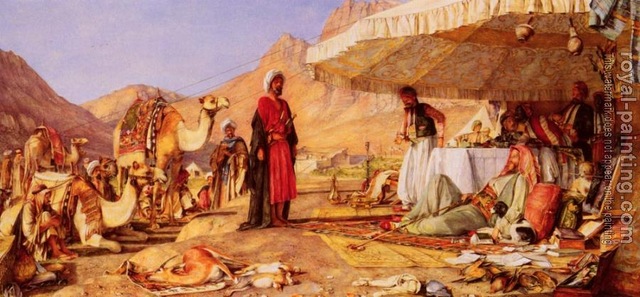 John Frederick Lewis : A Frank Encampment In The Desert Of Mount Sinai