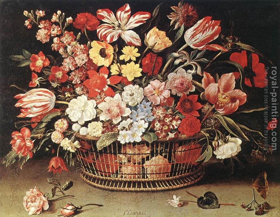 Jacques Linard : Basket of Flowers