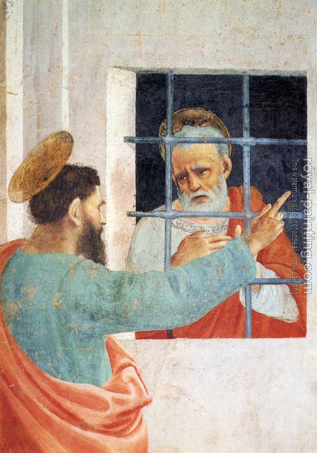 Filippino Lippi : St Peter Visited In Jail By St Paul