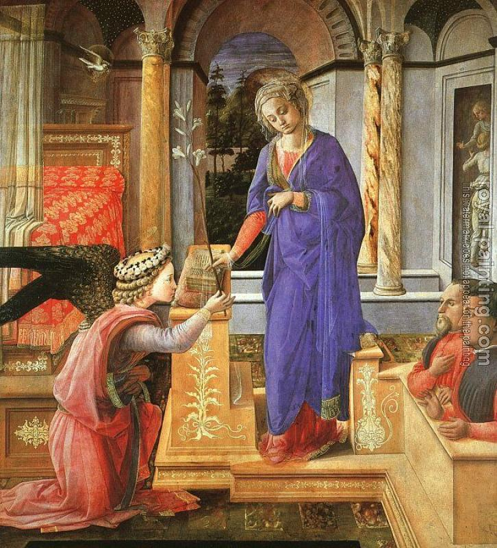 Fra Filippo Lippi : Annunciation with two Kneeling Donors