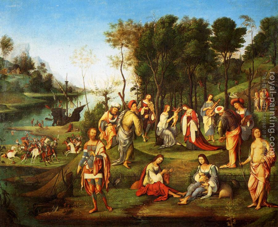Lorenzo Costa : The Garden Of The Peaceful Arts